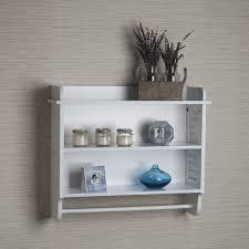White Towel Cabinet Danya B White Bath Cabinet With Adjustable Shelf And Towel Bar