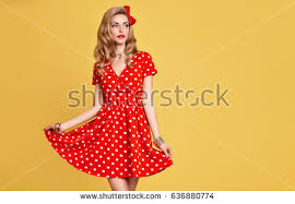 polka dot dress stock images royalty free images u0026 vectors