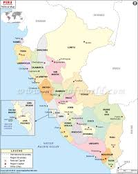 Blank Map Of South Africa Provinces by Political Map Of Peru Peru Regions Map