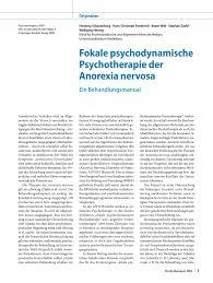 G Stige K Hen Auf Raten Fokale Psychodynamische Psychotherapie Der Anorexia Nervosa Ein