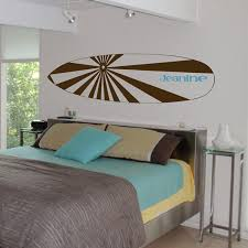 surfboard u0026 name personalized monogram wall decals