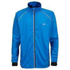 mens fluorescent cycling jacket trespass blocker mens hi vis active waterproof coat reflective