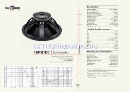 b u0026c speakers speakers 18ps100 user u0027s manual download free