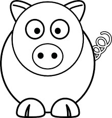 Coloring Page Of A Pig Flying Pig Coloring Pages Printable Mo Willems Coloring Pages