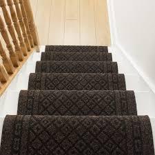 black staircase dark brown stair runner rug conga