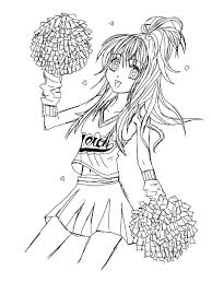 cheerleading free coloring pages on art coloring pages