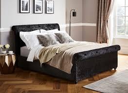Crushed Velvet Bed Ellen Black Crushed Velvet Bed Frame Dreams