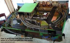 fold up train table o scale model train layout storage and set up