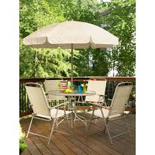 Glass Table Patio Set Essential Garden Folding 6 Piece Patio Set Limited Availability