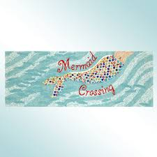 Indoor Outdoor Rug Runner Mermaid Crossing Indoor Outdoor Rug Runner By Liora Manne