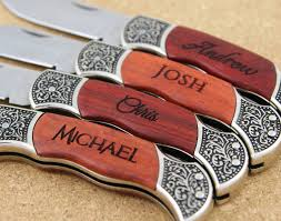 groomsmen knives six personalized custom engraved pocket knives