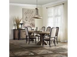 corsica rectangle pedestal dining table hooker dining room corsica rectangle pedestal dining table w 2 20in