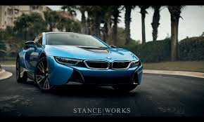 stance bmw stance works first look at the bmw i8 on american soil