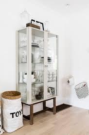 furniture bookcase ikea lighted display case curio cabinet ikea
