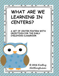 themed posters what are we learning in centers owl themed posters with objectives