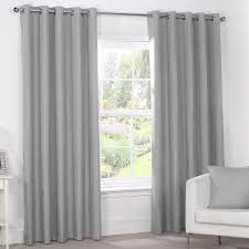 Luxury Grey Curtains Silver Grey Luxury Thermal Blackout Eyelet Curtains Pair