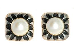 pearl clip on earrings pearl clip earrings by dallas artist dian malouf