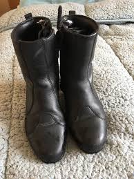 leather motorbike boots water proof ladies leather motorbike boots size uk 3 10 00 in