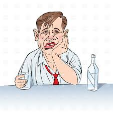 alcohol vector sad businessman drinking alcohol vector clipart image 6627