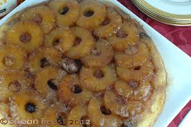 pineapple chestnut and caramel upside down cake spoon feast