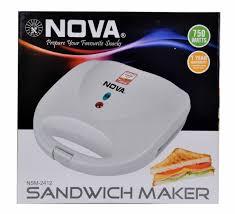 buy nova nsm 2412 750 watt sandwich maker white online at low