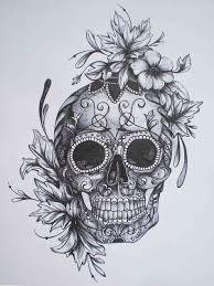 sugar skull pin up drawing note9 info