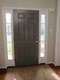 inside of front door painted benjamin moore chelsea gray for