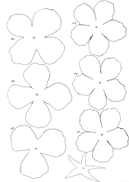 10 best images of giant paper flower template printable rose