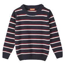 toddler boys stripe sweater in jf midnight blue from joe fresh