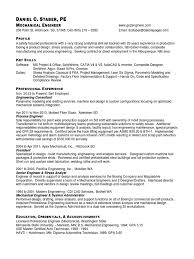 sample resume for diploma in mechanical engineering resume of dan staber pe mechanical engineer docshare tips