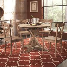 round table number of seats largo callista rustic casual round dining table and side chair s on