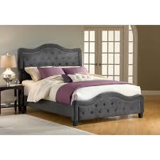 hillsdale trieste upholstered low profile bed pewter hayneedle