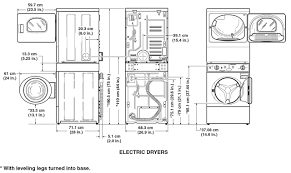 furniture sketch of stackable washer and dryer