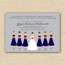 invitations for bridesmaids bridesmaids invitations justsingit