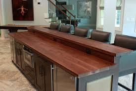 walnut breakfast bar table walnut kitchen island top with raised wood bar contemporary