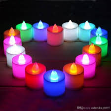 2017 multicolor light led candle light smokeless flameless