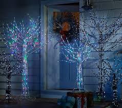 santa s best 7 all season prelit brown wire tree with rgb