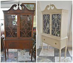 mahogany china cabinet furniture heir and space a mahogany china hutch in cream an amethyst