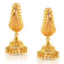 gold jhumka earrings design with price jeel beaded gold jhumkas jewellery india online caratlane