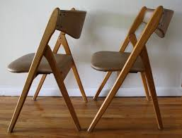 Mid Century Modern Danish Chair Wood Mid Century Modern Coronet Folding Chairs Picked Vintage