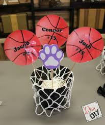 basketball centerpieces host a basketball theme party