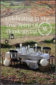 celebrating in the true spirit of thanksgiving