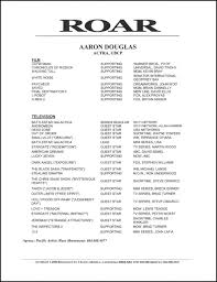 Movie Theater Resume Sample by Aaron Douglas U2013 Acting Resume