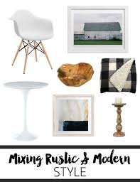 mixing modern and rustic style in the new house