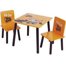 Table And Chairs Set Kidsaw My First Jcb Table And Chair Set Toys R Us