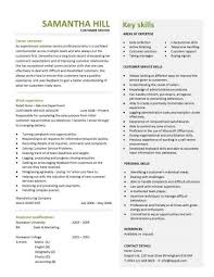 customer service resume templates customer service resume templates skills customer services cv