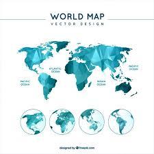 world map vector free polygonal world map vector free