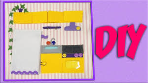How To Make Doll Kitchen Diy How To Make Quiet Book For Doll House Kitchen
