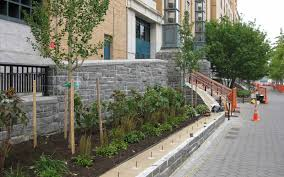 Large Planters For Trees by North Esplanade Battery Park City New York Ny Siteworks