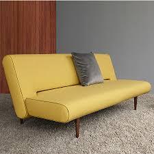 unfurl sleeper sofa in mustard eurway modern